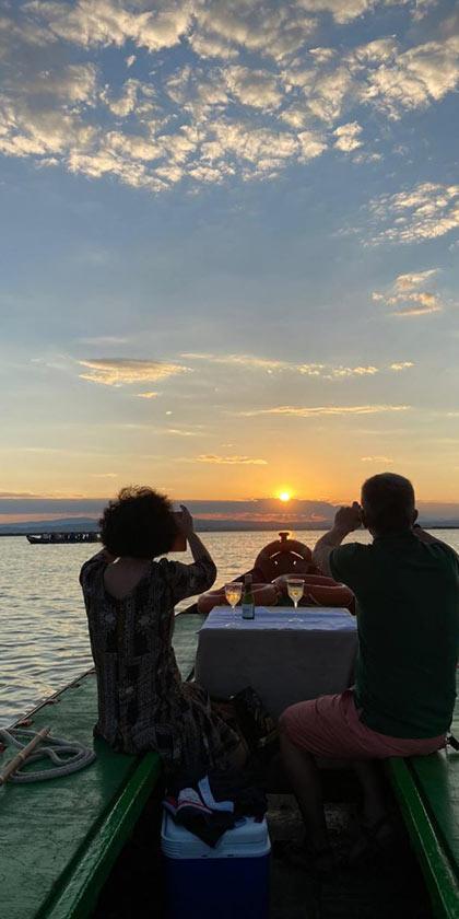 Fotografiando la puesta de sol en la Albufera de Valencia